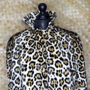 1960's Vintage Ladies Amazing Leopaard Faux Fur Cape 4