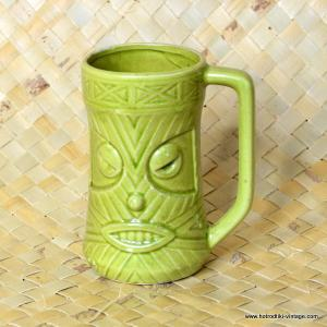 1960's Vintage Westwood W9 Light Green Tiki Mug 1