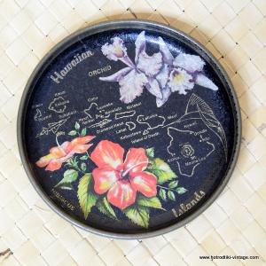 Vintage Souvenir Mini Metal Hawaiian Islands Tray 1