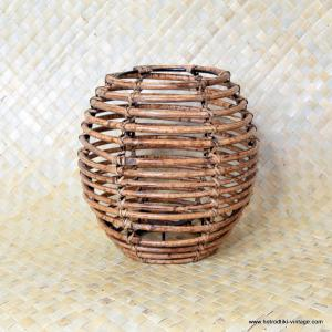 Vintage Style Bamboo Barrel Lampshade 1