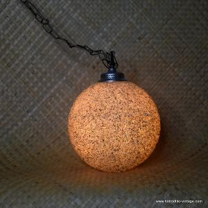 1960's Round Hanging American Swag Lamp 1