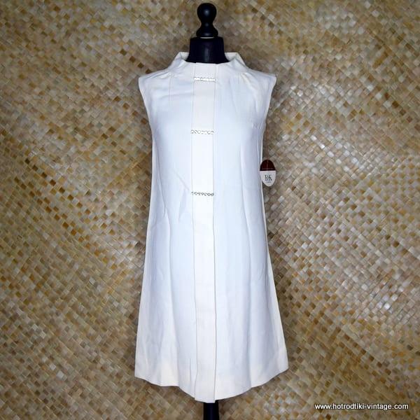 1960's Vintage Ladies R&K Originals Cream NOS Dress 1