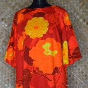 1960's Ladies Otaheite Hawaiian Orange Dress 2