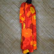 1960's Ladies Otaheite Hawaiian Orange Dress 3