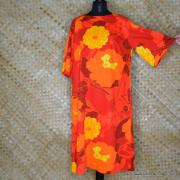 1960's Ladies Otaheite Hawaiian Orange Dress 5