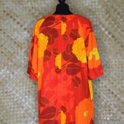 1960's Ladies Otaheite Hawaiian Orange Dress 7