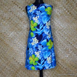 d4192c22a9e89 1960's Ladies Vintage 'Reef' Hawaiian Blue Dress