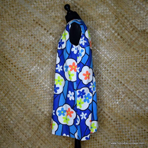 d0f2b96ac4fb7 1960 s Vintage Ladies  Sears Sun Shift  Cotton Flower Power Dress ...