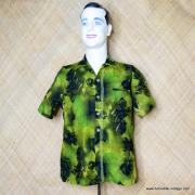 1960's Mens Iolani Green Hawaiian Shirt 1