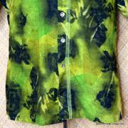 1960's Mens Iolani Green Hawaiian Shirt 3
