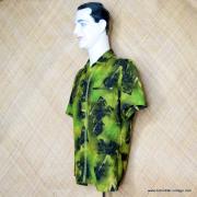 1960's Mens Iolani Green Hawaiian Shirt 5