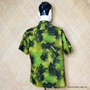 1960's Mens Iolani Green Hawaiian Shirt 6