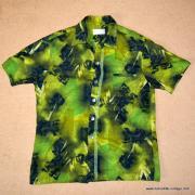 1960's Mens Iolani Green Hawaiian Shirt 8