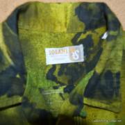1960's Mens Iolani Green Hawaiian Shirt 9