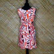 1960's Vintage Polyester White & Red Dress 6