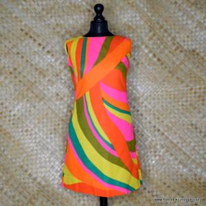 21debf02a7dbe 1960's Vintage Ladies 'Alex Colman' Psychedelic Pink & Orange Dress