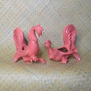 1950's Pair of Cockerel Planters 1