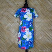 1960's Ladies Blue Hawaiian Dress 1