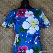 1960's Ladies Blue Hawaiian Dress 2
