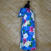 1960's Ladies Blue Hawaiian Dress 3