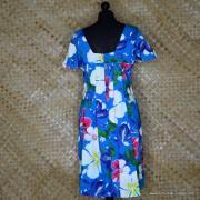 1960's Ladies Blue Hawaiian Dress 6