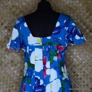 1960's Ladies Blue Hawaiian Dress 7