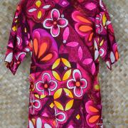 1960's Laies Purple Lauhala Hawaiian Blouse 2
