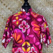1960's Laies Purple Lauhala Hawaiian Blouse 3