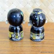 Vintage Japanese Wood Salt & Pepper Shakers 5