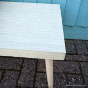 1950's American Blonde Faux Wood Side Table 11