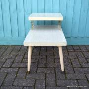 1950's American Blonde Faux Wood Side Table 8