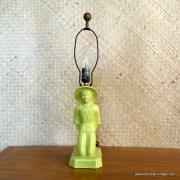 1950's American Green Oriental Man Table Lamp 12