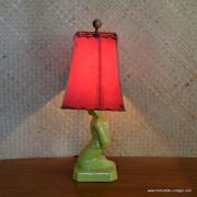 1950's American Green Oriental Man Table Lamp 9