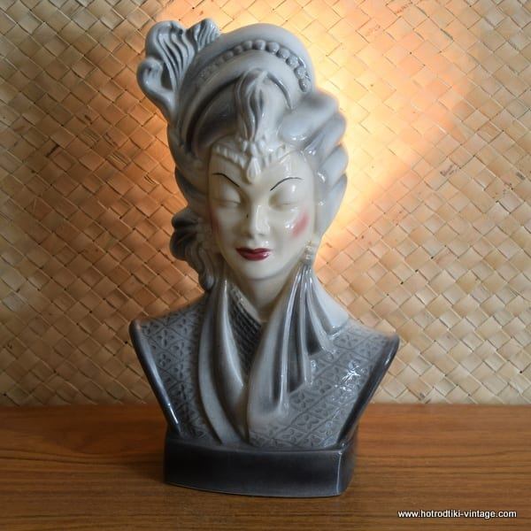 1950's Navis & Smith Asian Bust Head TV Lamp 1
