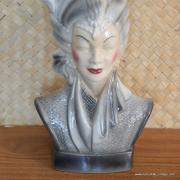 1950's Navis & Smith Asian Bust Head TV Lamp 10