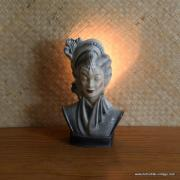 1950's Navis & Smith Asian Bust Head TV Lamp 3