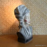 1950's Navis & Smith Asian Bust Head TV Lamp 4