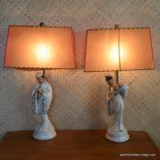 1950's Roma Art Pair of Oriental Figure Table Lamps 21