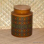 1970's Hornsea Bronet Tea Coffee Sugar Flour Set 9