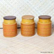 1970's Hornsea Saffron 4 Storage Jars and Bowl 3