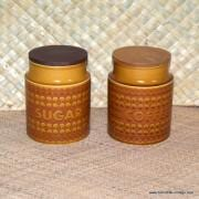 1970's Hornsea Saffron Pair of Storage Barrels 1
