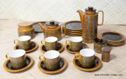 1970's Vintage Hornsea Bronte TeaCoffee Set with Extras 34 Pieces 2