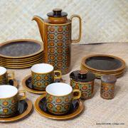 1970's Vintage Hornsea Bronte TeaCoffee Set with Extras 34 Pieces 3