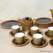 1970's Vintage Hornsea Bronte TeaCoffee Set with Extras 34 Pieces 4