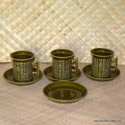 1970's Portmeirion Cypher Tea Cups and Saucers 2